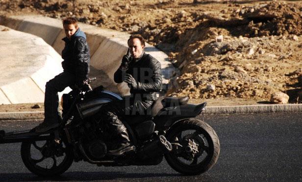 on set Ghost Rider: Spirit of Vengeance